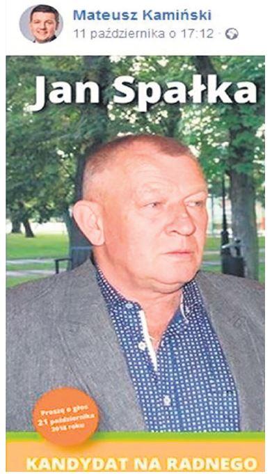 Burmistrz rekomenduje radnego Jana Spałkę - kandydata zwyrokiem
